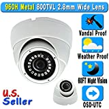Cheap 800TVL 960H 2.8mm Wide Angle Lens 24IR Night Vision Vandal Weather Proof Dome Security CCTV Camera