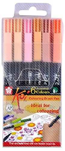 Sakura Koi Coloring brush pen set of 6 skin shades: Amazon.in: Home ...