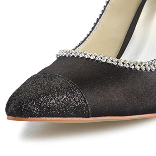 De Cap Pompe Haut Satin Blanc De toe Jia Chaussures Mariage Des A3135 Des Femmes Strass Talon Mariée Chaussures Jia De xSnw1