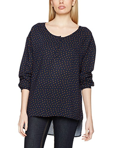 United Colors of Benetton Printed Loose Fit Blouse, Blusa para Mujer Azul (Navy)