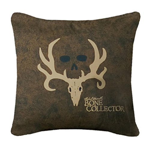Licensed Bone Collector Brown & Tan Square Pillow - 20