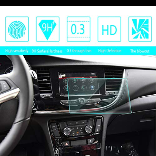 (for 2016 2017 2018 Buick Encore 7-Inch 15291mm Car Screen Tempered Film Navigation Screen Protector HD Clear 9H Hardness Anti-Fingerprint Anti-Scratch)