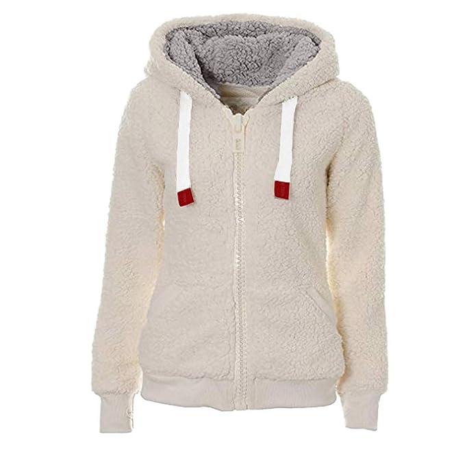 Overdose Abrigo Ladies Soft Teddy Fleece con Capucha Mejor Venta Color SóLido Jumper Hoodie Jacket Coat Invierno CáLido Invierno Rebajas: Amazon.es: Ropa y ...