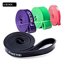 FREETOO Best Workout Rubber Band Resistance Bands Powerlifting Bands Pull-Up Band Resistance Exercise Bands