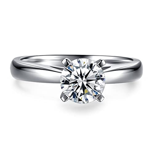 2 Carat Round Brilliant Cubic Zirconia CZ Sterling Silver 925 Wedding Engagement Ring Sizes 6 to 9 8KkTLwJ