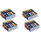 Start – 20 XL Ersatz Chip Patronen kompatibel zu Canon PGI-550BK XL Schwarz, CLI-551BK XL Foto-Schwarz, CLI-551C XL Cyan, CLI-551M XL Magenta, CLI-551Y XL Gelb für Canon Pixma iP7250, iP8750, iX6850, MG5450, MG5550, MG6350, MG6450, MG7150, MX725, MX925
