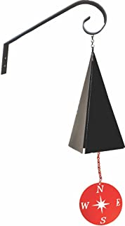 product image for North Country Wind Bells Pemaquid Bell with Compass Rose Red - 3 Tones
