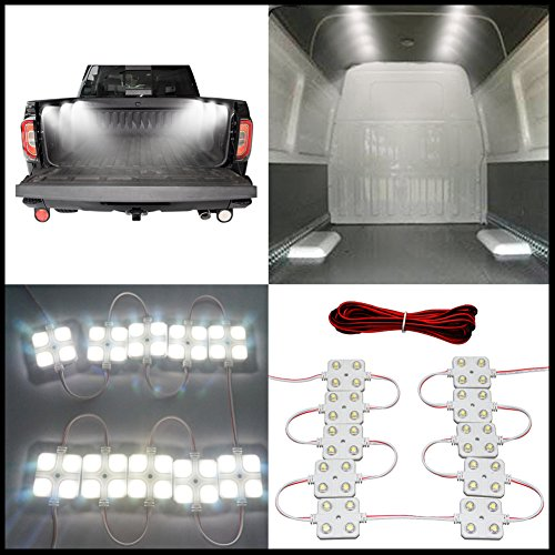 12V 40 LEDs Van Interior Light Kits,War-Horse LED Truck Bed Light LED Ceiling Lights Kit For Truck Van Caravans Trailers Lorries Sprinter Ducato Transit Boats (10 Modules, White)