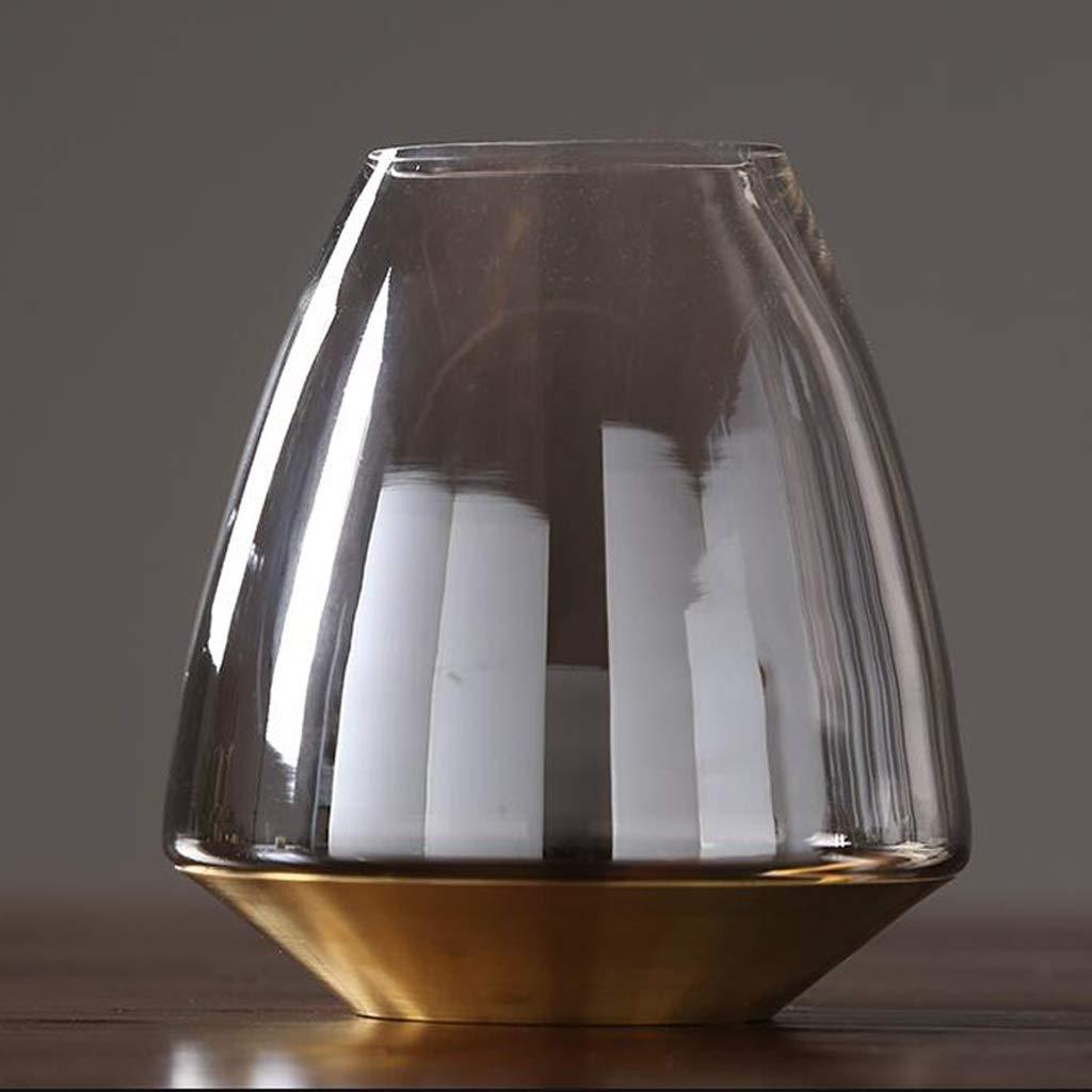 HBJP 透明なガラス花瓶の装飾家の居間の花瓶/水耕植物の花瓶 花瓶 (サイズ さいず : 10×21×19.5cm) B07RQWNR6F  10×21×19.5cm