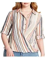 Vintage America Blues Plus Size Kenzie Striped Top
