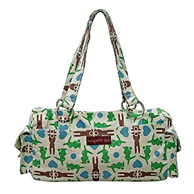 Bungalow360 Bunny Satchel Purse Vegan Cotton Hand Bag