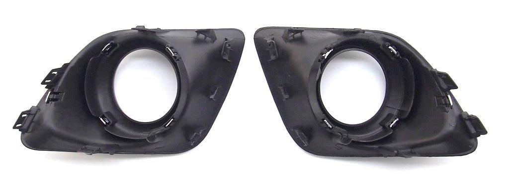 Grille gauche droite pour feux de brouillard avant Surround Coque Cadre noir