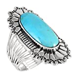 Sterling Silver 925 Genuine Turquoise Ring (10)