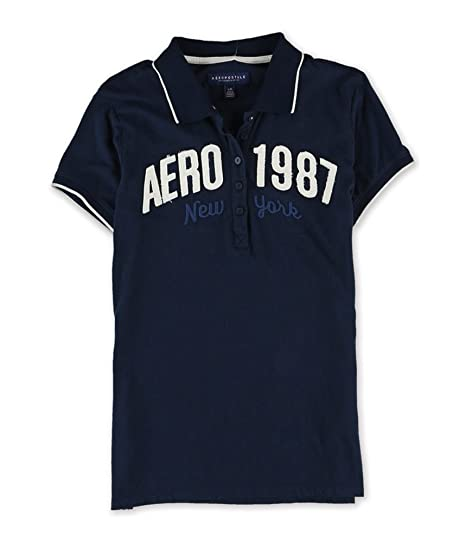 Aeropostale Womens 87 New York Polo Shirt