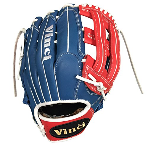 Vinci Limited 13'' Softball/Baseball Glove Red, White, & Blue Right Handed Thrower by VINCI