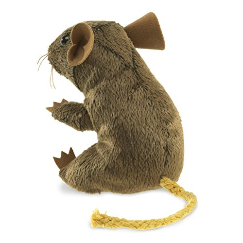 Stuffed Field Mouse Finger Puppet 3 1/2 inches tall - F1798 B65
