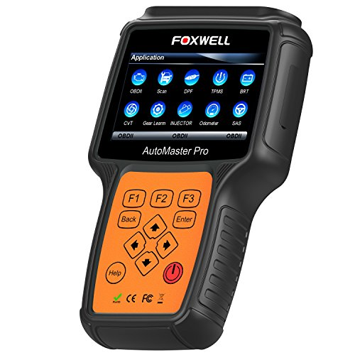 FOXWELL NT644 Pro Professional Car Diagnostic Obd2 Scanner Oil Reset, ABS, SAS, SRS, EPB, BRT, DPF, TPMS and TBA Automotive Full System Scan Tool with Full OBDI Connectors Kit