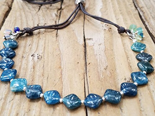 Neon Apatite and Hill Tribe Silver Necklace