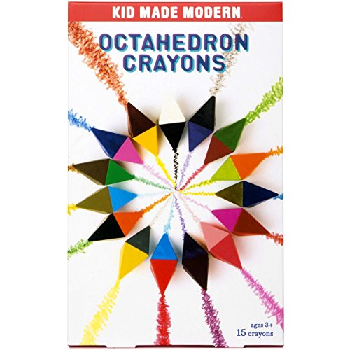 Kid Made Modern Octahedron Crayons - Toddler Art Supplies | 15 Count