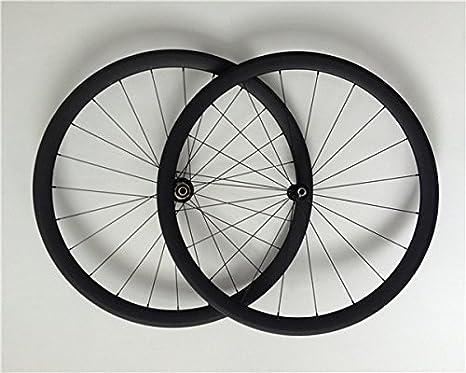 YouCan bicicleta 700 C Tubular de carbono Ruedas de bicicleta de carretera 38 mm Altura 25 mm Ancho 29er ruedas: Amazon.es: Deportes y aire libre