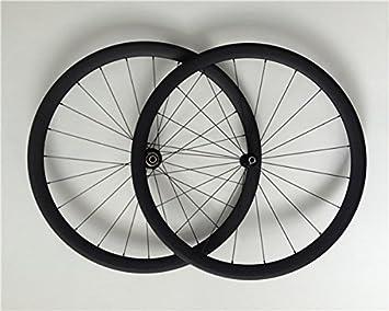YouCan bicicleta 700 C ruedas Clincher Carbon para bicicleta de carretera 38 mm Altura 25 mm Ancho 29er ruedas...: Amazon.es: Deportes y aire libre
