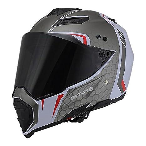 Woljay Casques motocross Casque sport moto sport double sport Salet/é Bicyclette VTT S, Noir