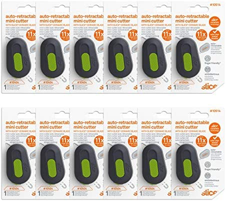 Slice 10514-cs Auto-retractable Mini Cutter Pack of 12 for sale online