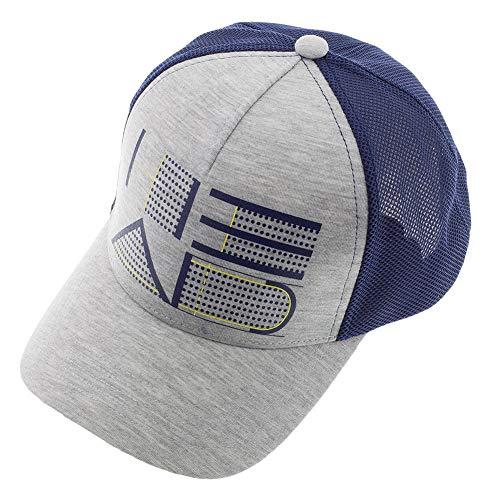 Head-Trucker Hat Gray and Navy-(287046)