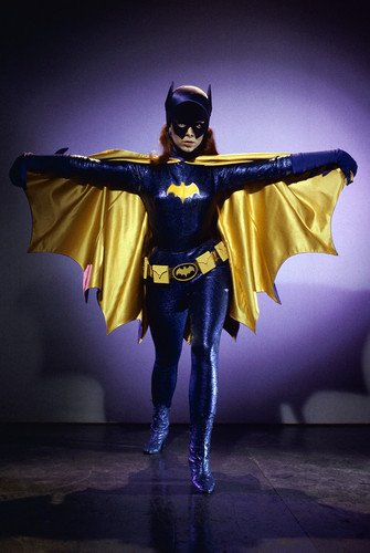 Yvonne Craig in Batman at Batgirl in costume open cape 24x36 Poster