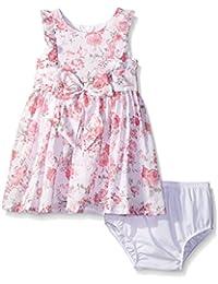 Baby Girls' Clip Dot Floral Print Dress