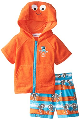 Wippette Baby-Boys Infant Octopus Coverup Set, Orange, 18 Months