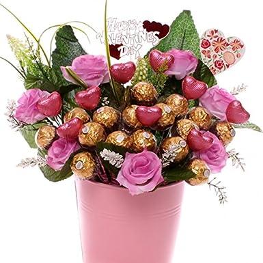 Valentine S Day Ferrero Rocher Chocolate Bouquet With Milk Chocolate