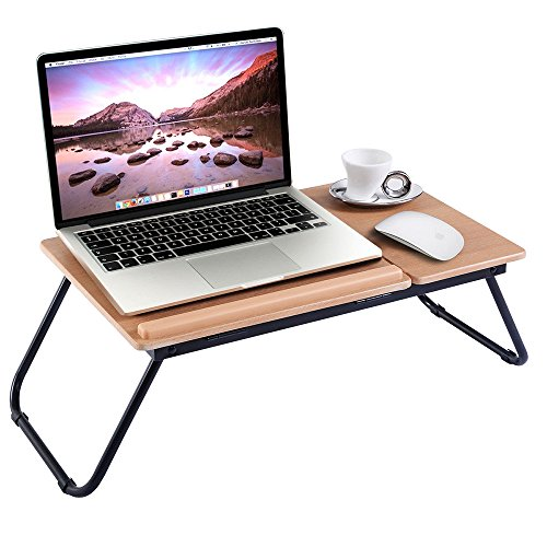 Wood Mini Riser (Ansley&Hosho Foldable Laptop Stand Riser on Desk Mini Table for Bed Sofa Multifunctional Tray for Eating Computer Desk for PC Tablet Book Storage)