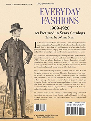 Everyday Fashions 1909 1920 As Pictured In Sears Catalogs Dover