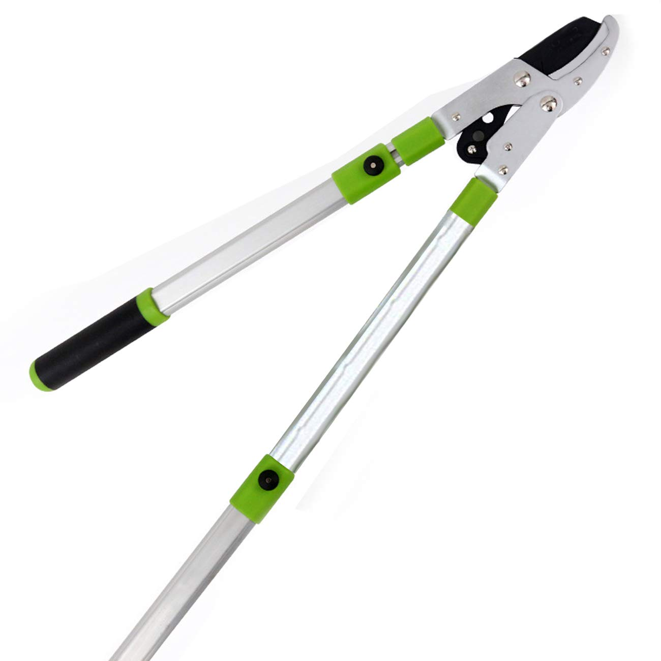 Kioos Retractable Light-weight Aluminium Loppers fruit trees pruner extendable stretch Lever Drive System