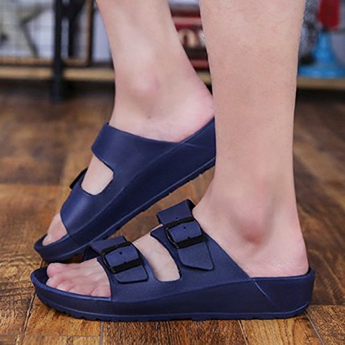Sandals MAZHONG Summer Non-slip Men's Beach Shoes (Color : Blue, Size : EU43/UK9/CN44) Blue