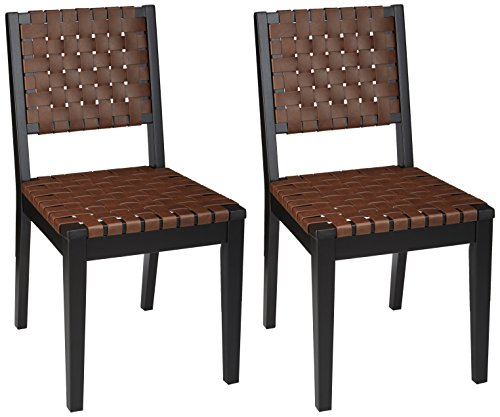 Ashley Furniture Signature Design - Glosco Dining Chair - Contemporary Style - Woven Back - Set of 2 - ()