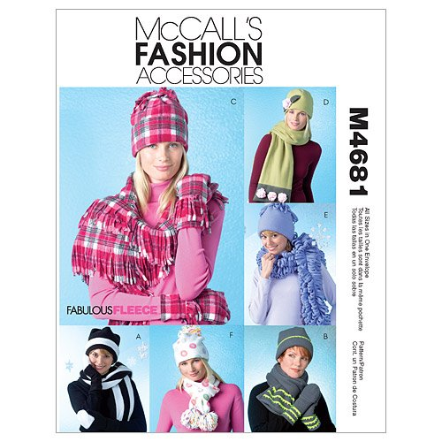 McCall's Patterns M4681 Misses' Hats, Scarves and Convertible Mittens