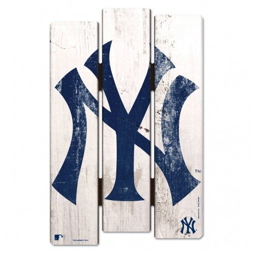 Ny Yankees Sign - WinCraft MLB New York Yankees Wood Fence Sign, Black