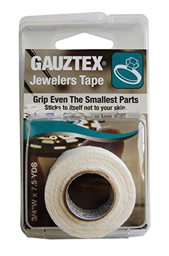 Gauztex® Finger Tape - Jeweler's - Self-Adhesive Breathable Gauze - Flexible, Sweatproof Non-Slip Grip (1 Roll), ¾
