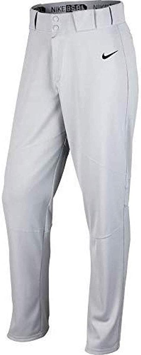Nike Men's Pro Vapor Baseball Pant Wolf Grey/Black Size Medium
