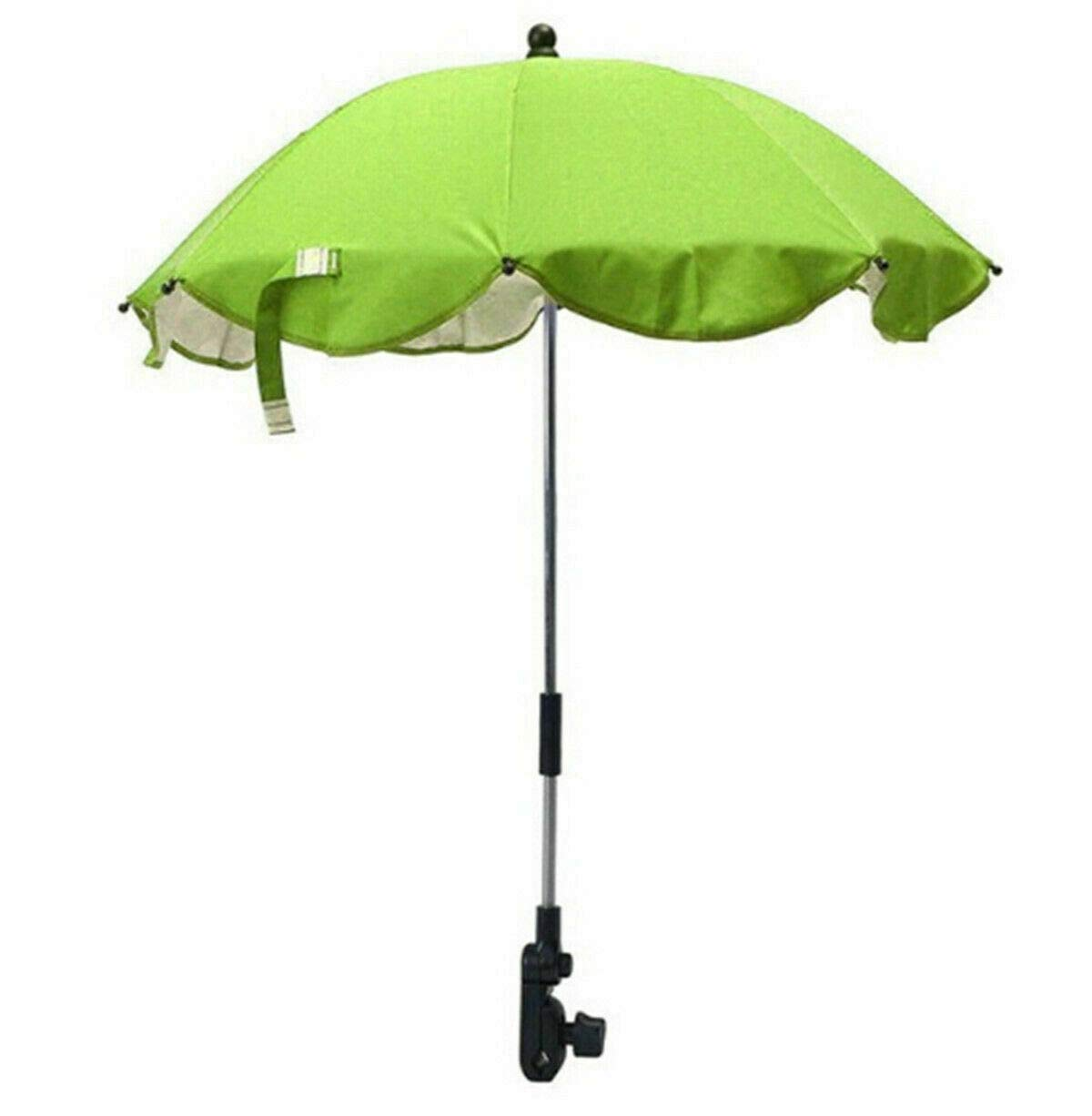 Global Supplies Present Flexible Baby Sun Umbrella Parasol Buggy Pushchair Shade in Green