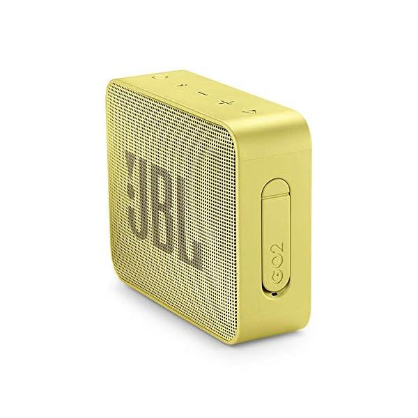 JBL Go 2 - Mini enceinte Bluetooth Portable - Étanche pour Piscine & Plage Ipx7 - Autonomie 5hrs - Qualité Audio JBL - Jaune 3