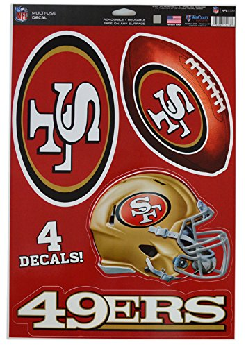 - WinCraft Official National Football League Fan Shop Licensed NFL Shop Multi-use Decals (San Francisco 49ers)