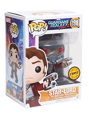 2 Star-Lord with Helmet Chase Variant Vinyl Bobble Head: Toys & Games