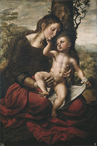 Oil Painting 'Hemessen Jan Sanders Van Virgin And Child 1543', 12 x 18 inch / 30 x 46 cm , on High Definition HD canvas prints is for Gifts And Basement, Foyer And Living Room Decoration