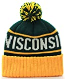 US Cities USA Great Wisconsin State Cuff Knit Pom Pom Beanie Gorra Hat (Wisconsin Green/Yellow)