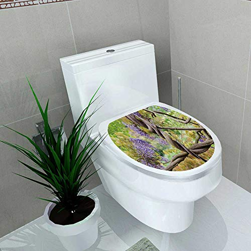 Toilet Sticker Twisted Wisteria Home Decor Applique Papers W15 x L17