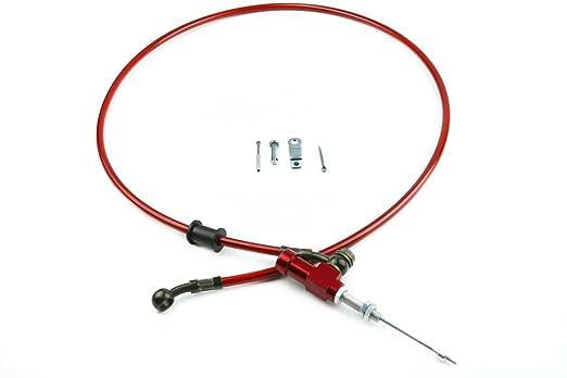 Línea de manguera trenzada de acero reforzado hidráulica para freno y embrague de moto, 1200 mm: Amazon.es: Coche y moto