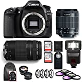 Canon EOS 80D DSLR Camera (Body Only) Canon EF-S 75-300mm Lens Combo Kit International Model